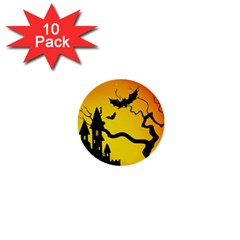 Halloween Night Terrors 1  Mini Buttons (10 Pack)  by BangZart