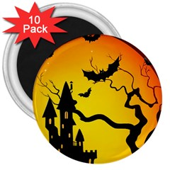 Halloween Night Terrors 3  Magnets (10 Pack)