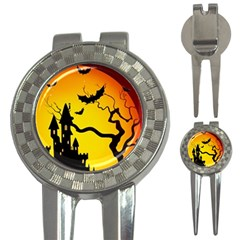 Halloween Night Terrors 3 In 1 Golf Divots by BangZart
