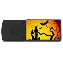Halloween Night Terrors Rectangular Usb Flash Drive