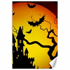 Halloween Night Terrors Canvas 24  X 36  by BangZart