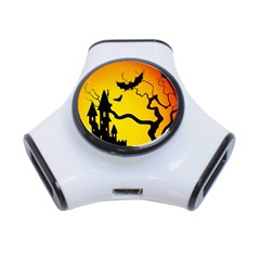Halloween Night Terrors 3 Port Usb Hub
