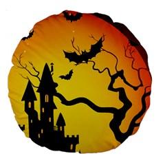 Halloween Night Terrors Large 18  Premium Round Cushions by BangZart