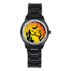 Halloween Night Terrors Stainless Steel Round Watch by BangZart