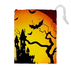Halloween Night Terrors Drawstring Pouches (extra Large)