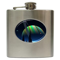 Planets In Space Stars Hip Flask (6 Oz)