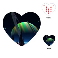 Planets In Space Stars Playing Cards (heart)