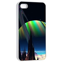 Planets In Space Stars Apple Iphone 4/4s Seamless Case (white)