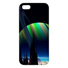 Planets In Space Stars Apple Iphone 5 Premium Hardshell Case