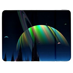 Planets In Space Stars Samsung Galaxy Tab 7  P1000 Flip Case