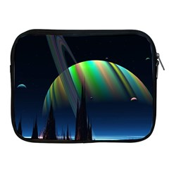 Planets In Space Stars Apple Ipad 2/3/4 Zipper Cases