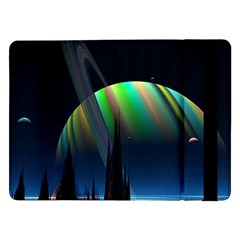 Planets In Space Stars Samsung Galaxy Tab Pro 12 2  Flip Case