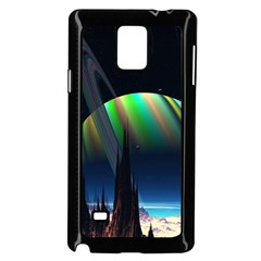 Planets In Space Stars Samsung Galaxy Note 4 Case (black)