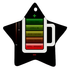 Black Energy Battery Life Star Ornament (two Sides)