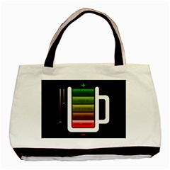 Black Energy Battery Life Basic Tote Bag (two Sides)