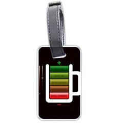 Black Energy Battery Life Luggage Tags (one Side)