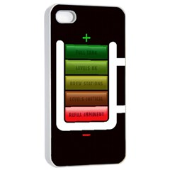 Black Energy Battery Life Apple Iphone 4/4s Seamless Case (white) by BangZart