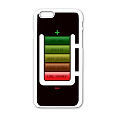 Black Energy Battery Life Apple Iphone 6/6s White Enamel Case