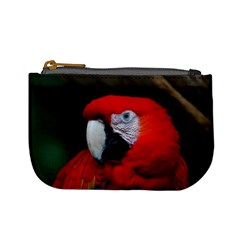 Scarlet Macaw Bird Mini Coin Purses by BangZart