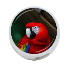 Scarlet Macaw Bird 4 Port Usb Hub (two Sides)