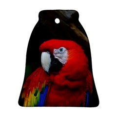 Scarlet Macaw Bird Bell Ornament (two Sides) by BangZart