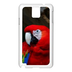 Scarlet Macaw Bird Samsung Galaxy Note 3 N9005 Case (white)
