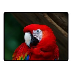 Scarlet Macaw Bird Double Sided Fleece Blanket (small)  by BangZart