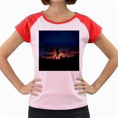Art Sunset Anime Afternoon Women s Cap Sleeve T Shirt