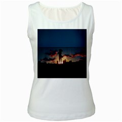 Art Sunset Anime Afternoon Women s White Tank Top