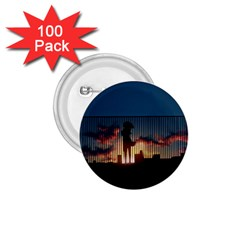 Art Sunset Anime Afternoon 1 75  Buttons (100 Pack)