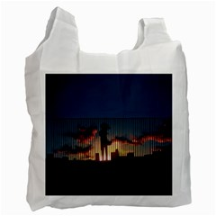 Art Sunset Anime Afternoon Recycle Bag (one Side)