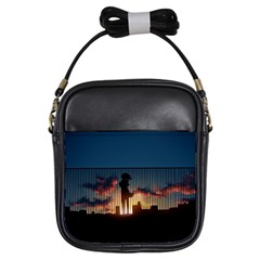 Art Sunset Anime Afternoon Girls Sling Bags