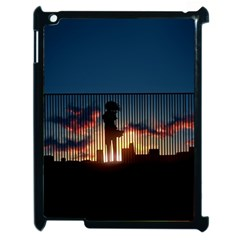 Art Sunset Anime Afternoon Apple Ipad 2 Case (black)