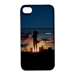 Art Sunset Anime Afternoon Apple Iphone 4/4s Hardshell Case With Stand