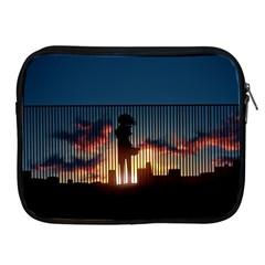Art Sunset Anime Afternoon Apple Ipad 2/3/4 Zipper Cases