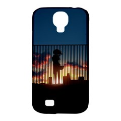 Art Sunset Anime Afternoon Samsung Galaxy S4 Classic Hardshell Case (pc+silicone)