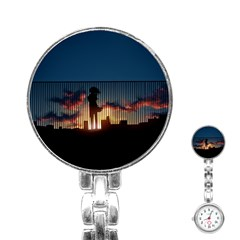 Art Sunset Anime Afternoon Stainless Steel Nurses Watch