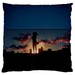 Art Sunset Anime Afternoon Large Flano Cushion Case (two Sides)