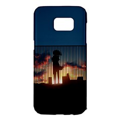 Art Sunset Anime Afternoon Samsung Galaxy S7 Edge Hardshell Case by BangZart