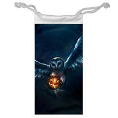 Owl And Fire Ball Jewelry Bag
