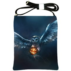 Owl And Fire Ball Shoulder Sling Bags