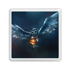 Owl And Fire Ball Memory Card Reader (square)