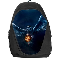 Owl And Fire Ball Backpack Bag