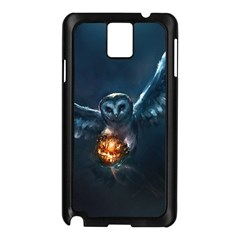 Owl And Fire Ball Samsung Galaxy Note 3 N9005 Case (black)