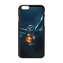 Owl And Fire Ball Apple Iphone 6/6s Black Enamel Case by BangZart