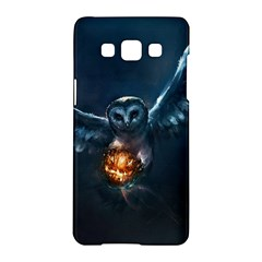 Owl And Fire Ball Samsung Galaxy A5 Hardshell Case  by BangZart