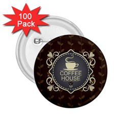 Coffee House 2 25  Buttons (100 Pack)
