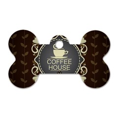 Coffee House Dog Tag Bone (two Sides)
