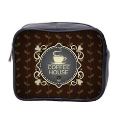 Coffee House Mini Toiletries Bag 2 Side