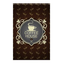 Coffee House Shower Curtain 48  X 72  (small)